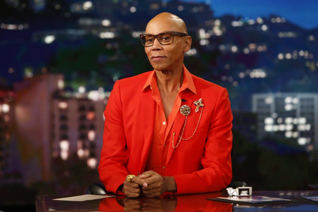 RuPaul in a suit