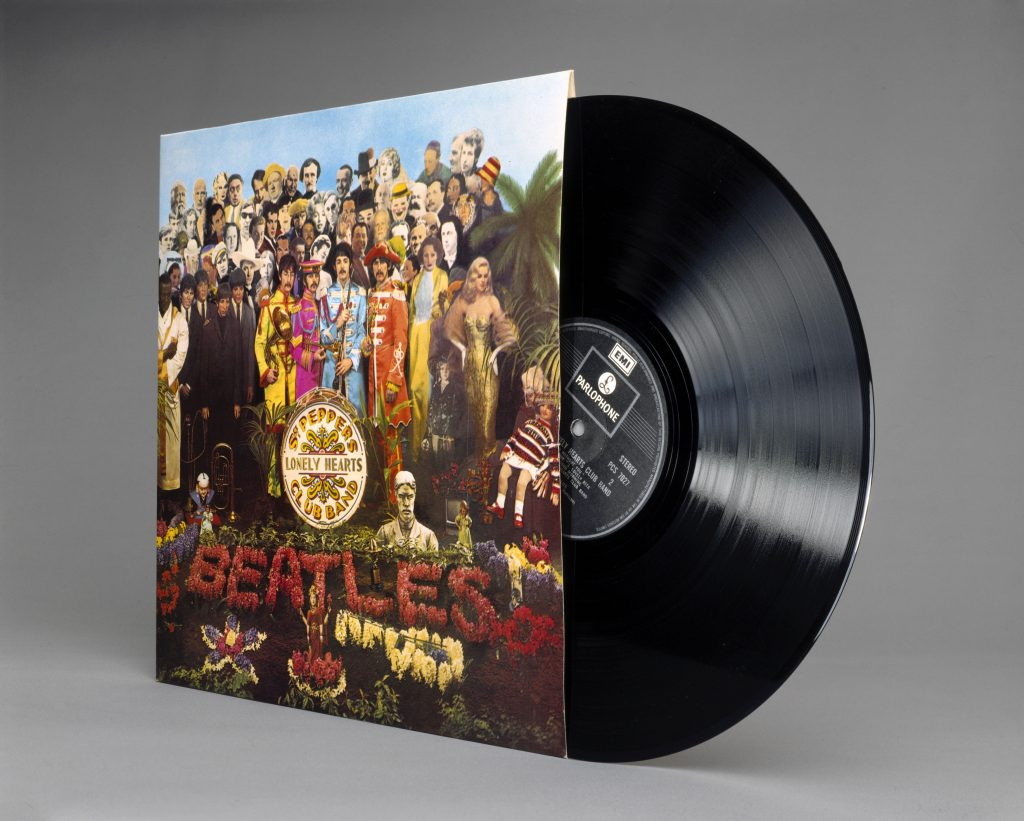 A Sgt. Pepper's Lonely Hearts Club Band vinyl