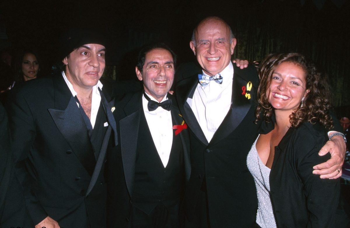 David Proval with 'Sopranos' co-stars and Peter Boyle