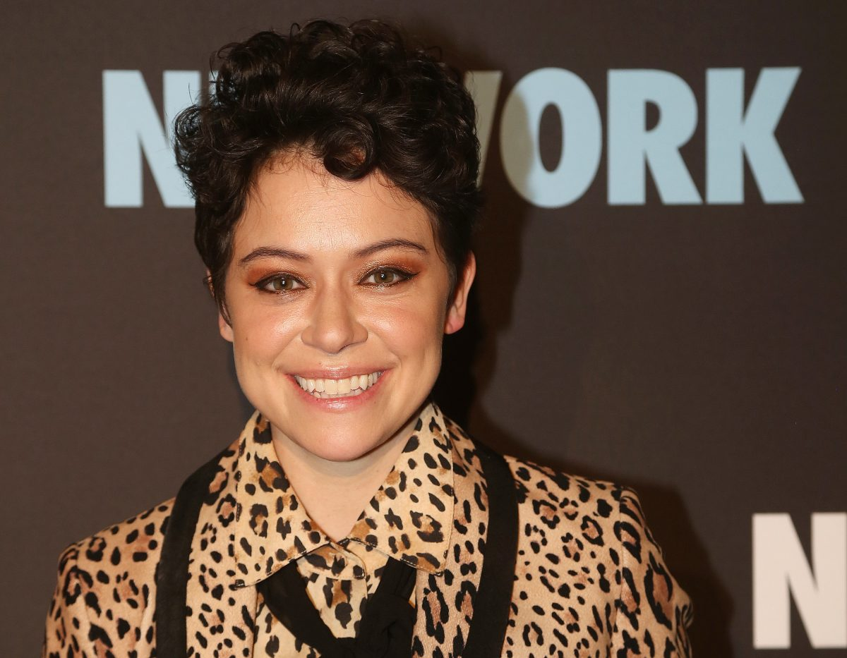 Tatiana Maslany poses at the opening night after party for the play 'Network' on Broadway on December 6, 2018 in New York City.