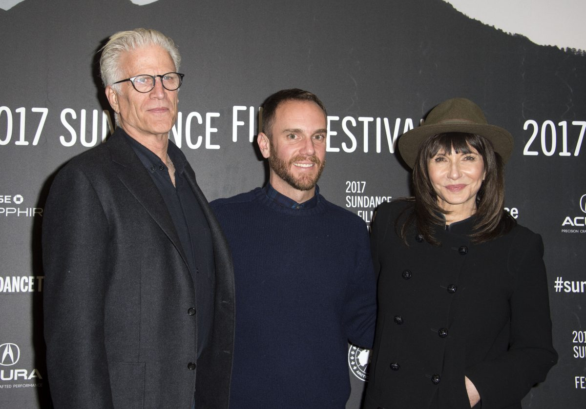 (L-R) Ted Danson, Charlie McDowell, and Mary Steenburgen attend 'The Discovery' Premiere during the 2017 Sundance Film Festival.