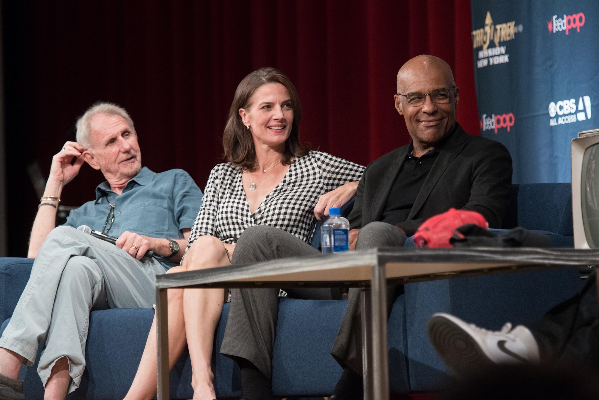 Rene Auberjonois, Terry Farrell and Michael Dorn of Star Trek: DS9
