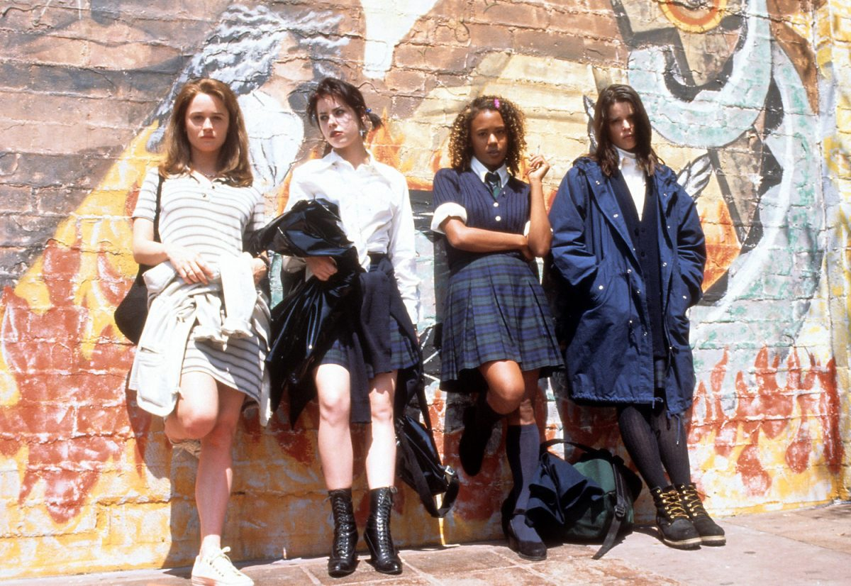 Robin Tunney, Fairuza Balk, Rachel True and Neve Campbell in a scene from the film 'The Craft',