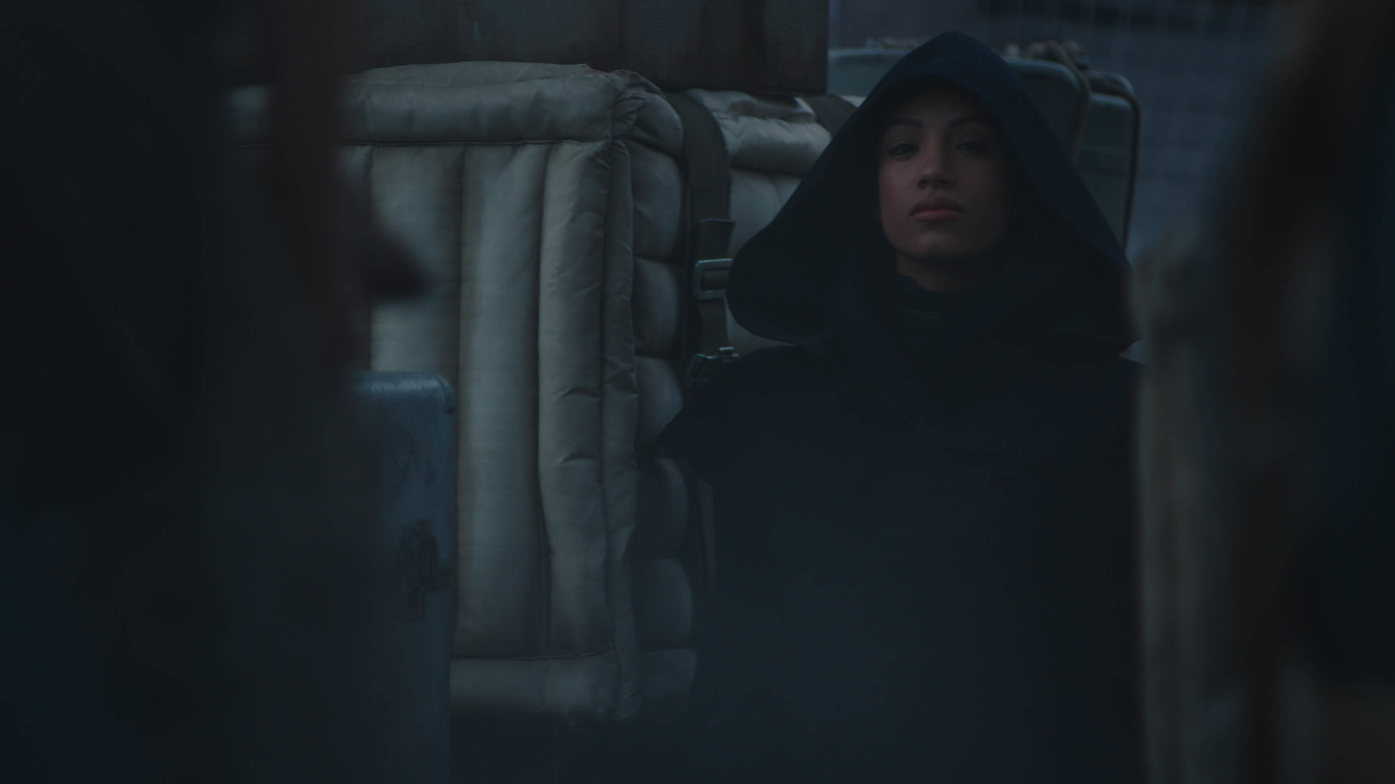 The mysterious hooded character in 'The Mandalorian' Season 2 trailer.