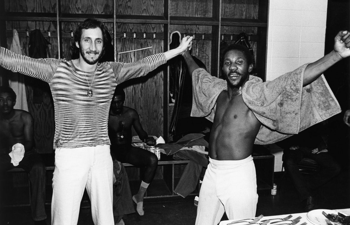 The Who's Pete Townshend and Toots Hibbert of Toots and the Maytals
