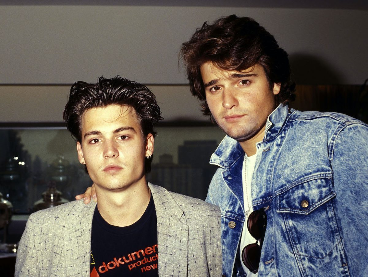 Johnny Depp and actor Peter DeLuise