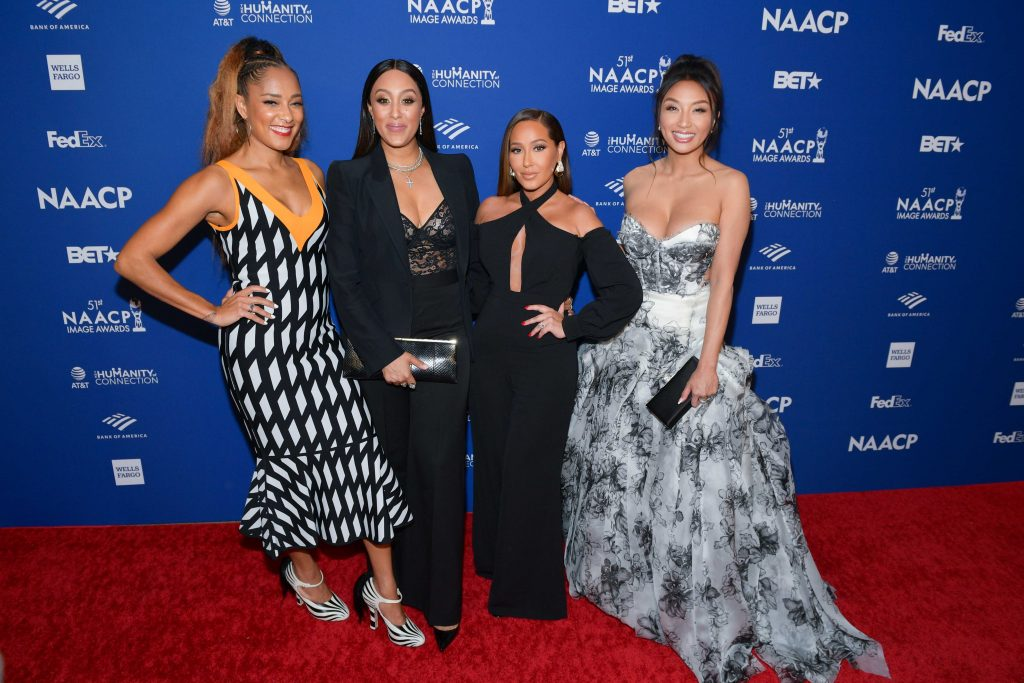 Amanda Seales, Tamera Mowry-Housley, Adrienne Houghton, and Jeannie Mai