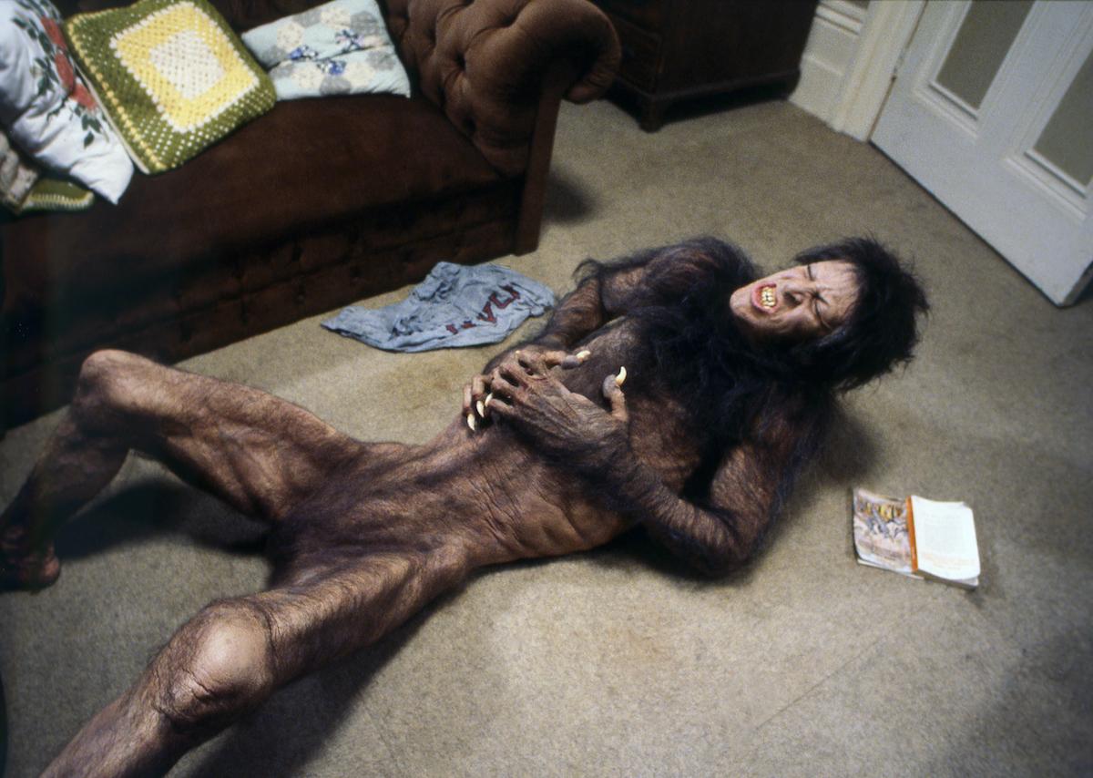 David Naughton on the set of An American Werewolf in London