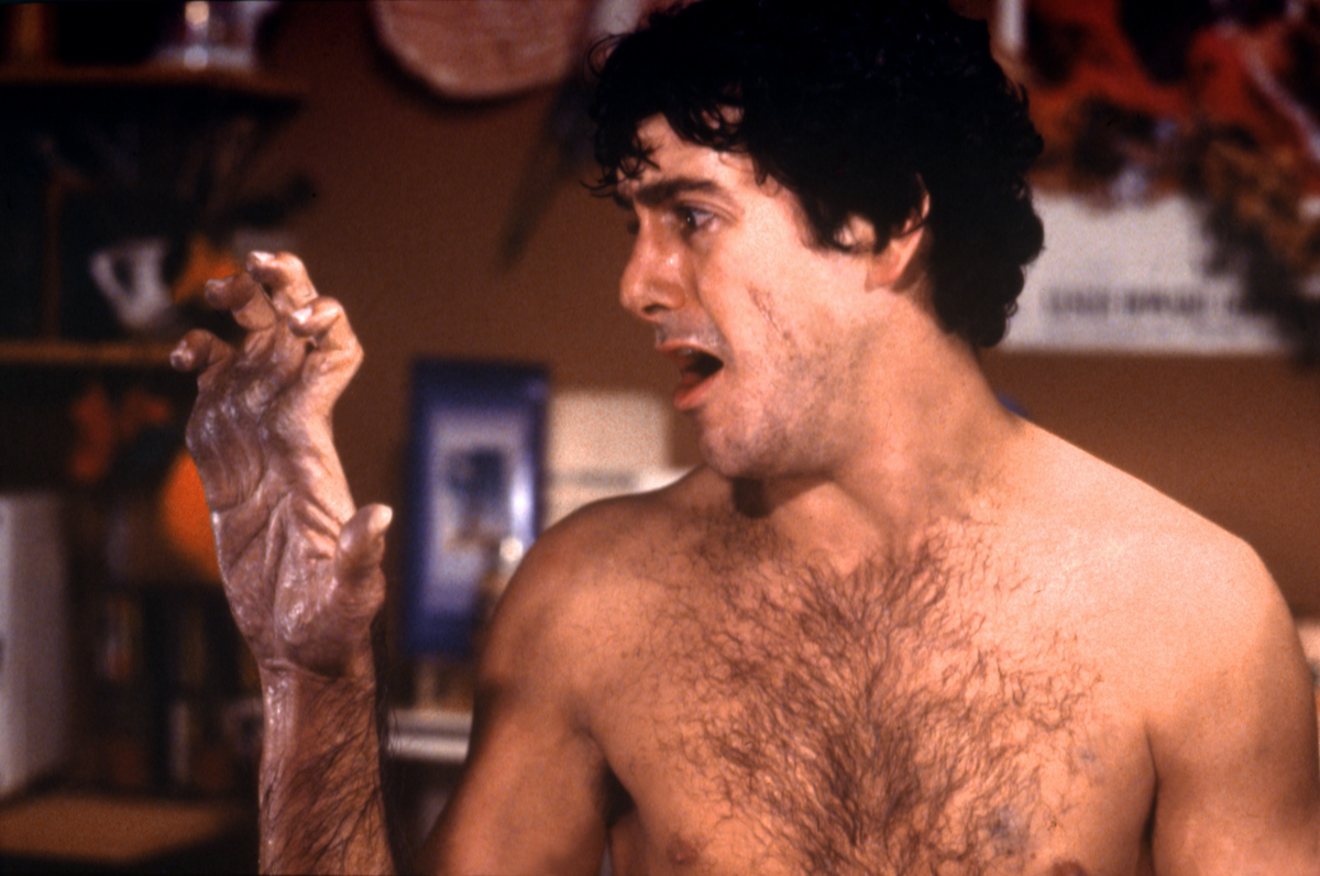 American actor David Naughton on the set of An American Werewolf in London