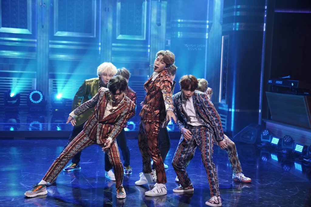 Band BTS performs 'I'm Fine' on 'The Tonight Show Starring Jimmy Fallon'