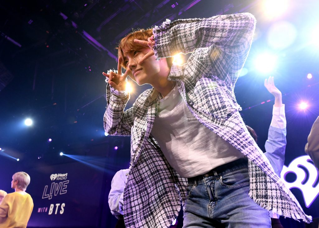 J-Hope of BTS on stage at iHeartRadio LIVE with BTS