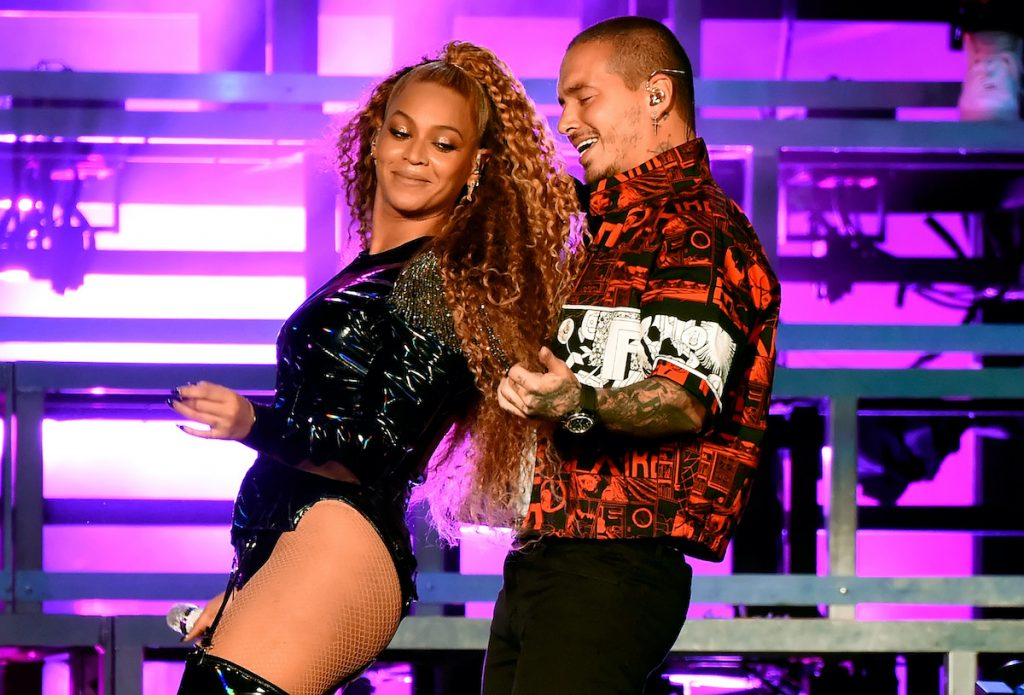 Beyoncé Knowles and J Balvin perform onstage during the 2018 Coachella Valley Music And Arts Festival   Kevin Mazur/Getty Images for Coachella