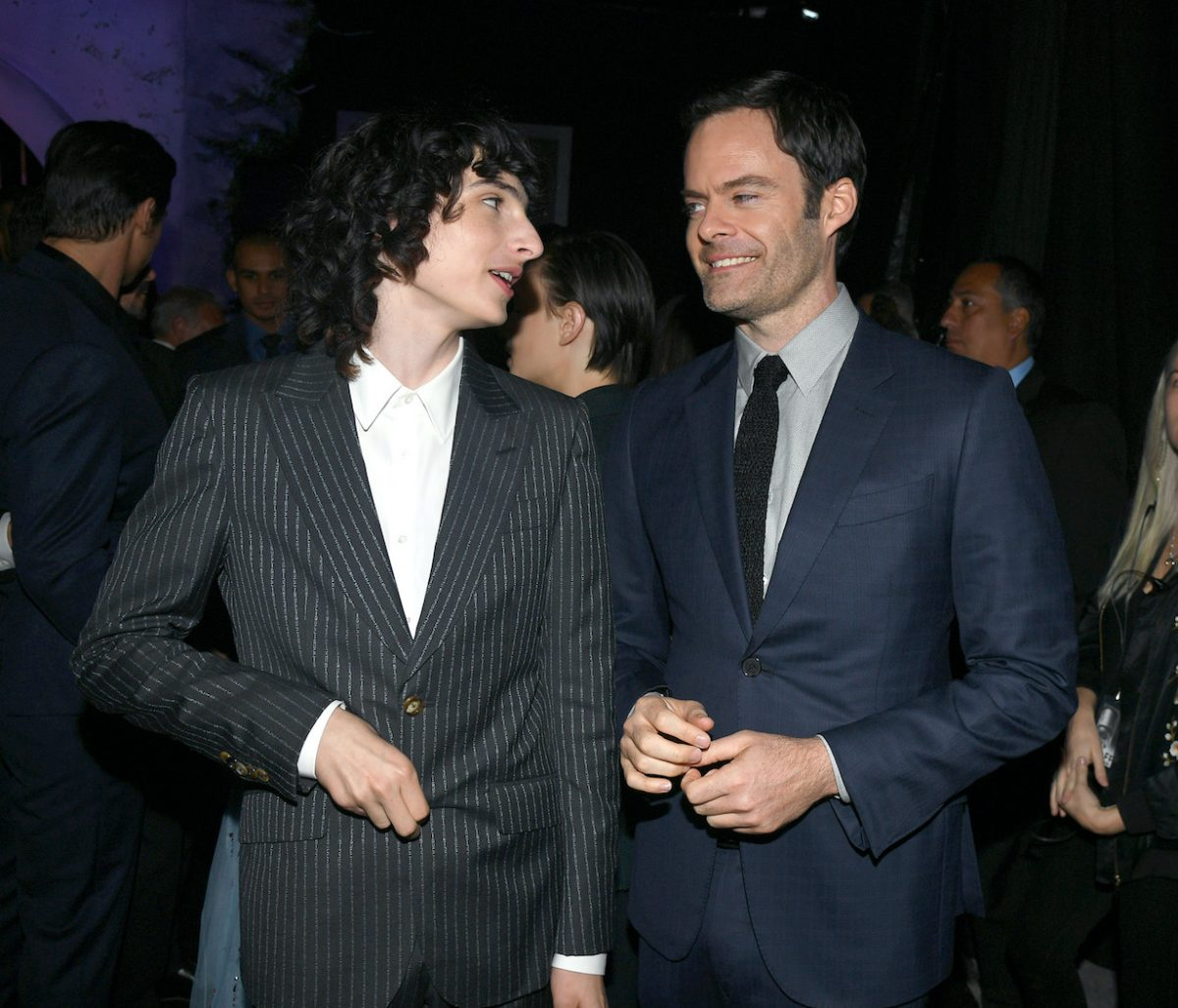 Finn Wolfhard and Bill Hader attend the Premiere of Warner Bros. Pictures' 'It Chapter Two'