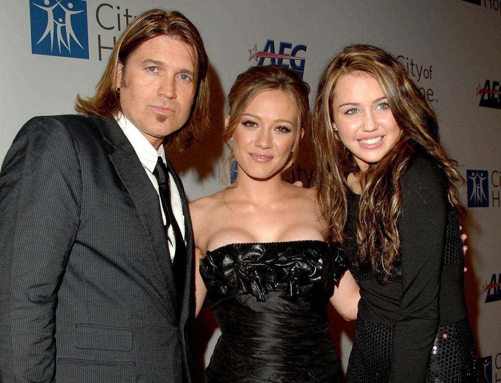Billy Ray Cyrus, Hilary Duff, and Miley Cyrus