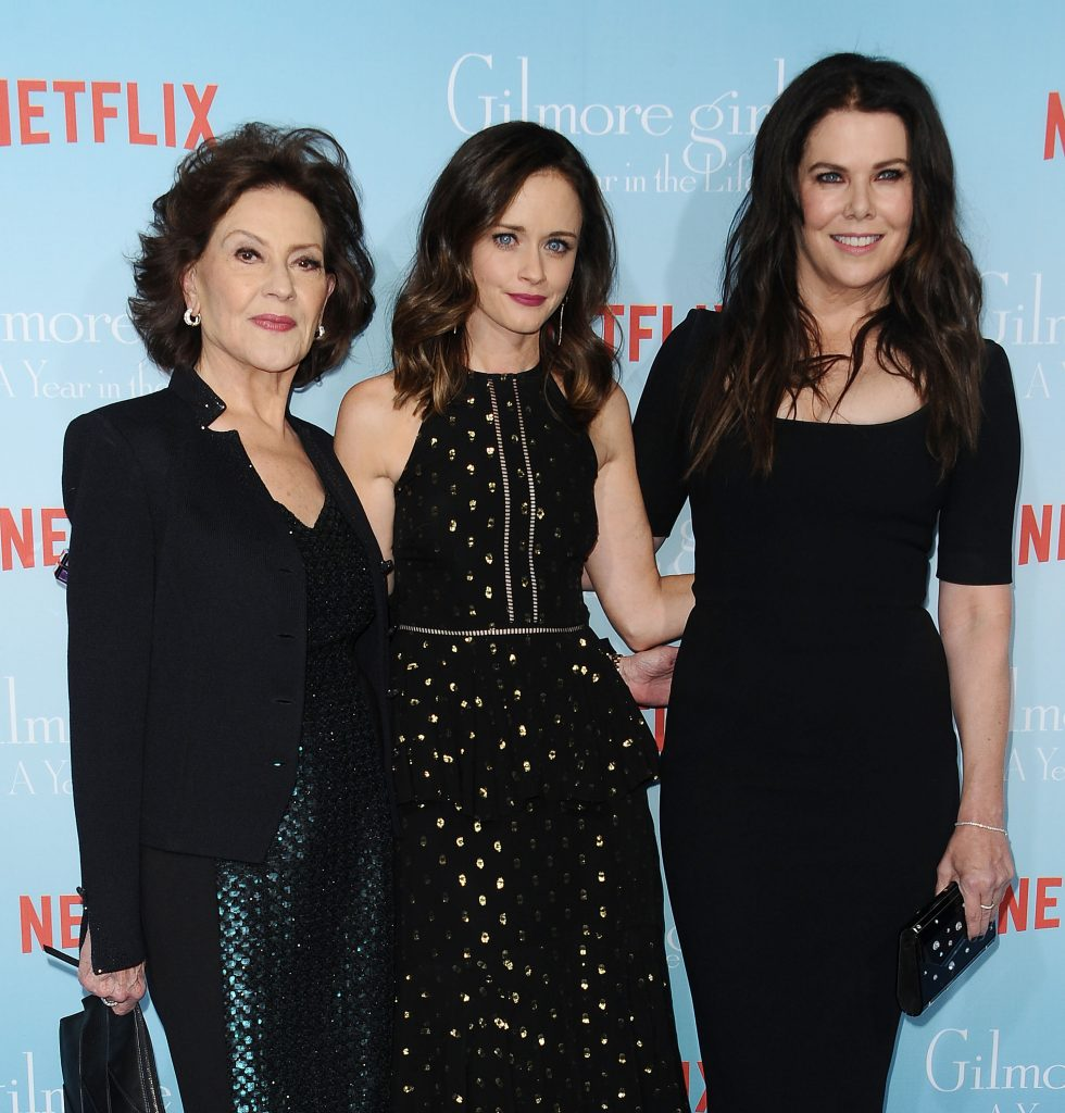 Kelly Bishop, Alexis Bledel and Lauren Graham attend the premiere of 'Gilmore Girls: A Year in the Life'