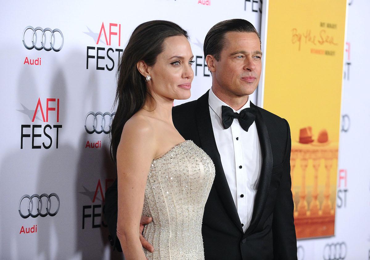 Brad Pitt (R) and Angelina Jolie (L)