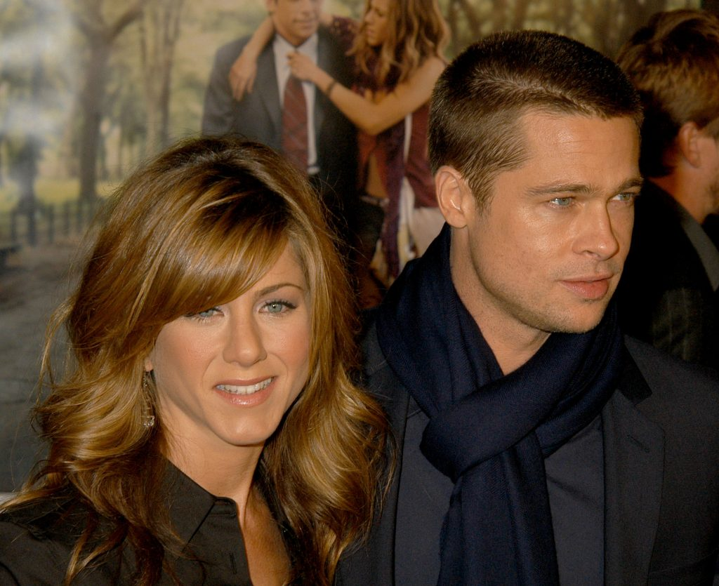 Jennifer Aniston and Brad Pitt during 'Along Came Polly' Premiere at Chinese Theatre