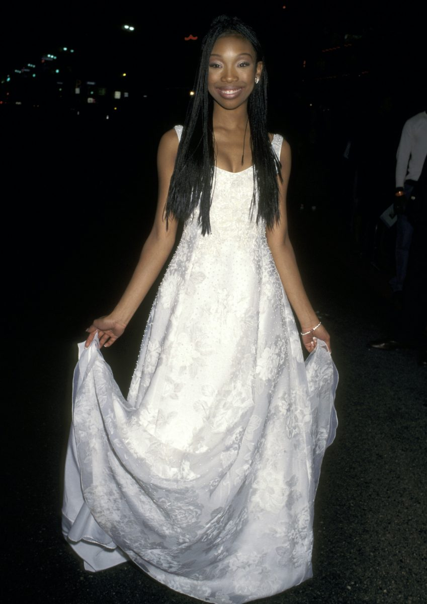 Brandy Norwood at the premiere of 'Cinderella' in 1997