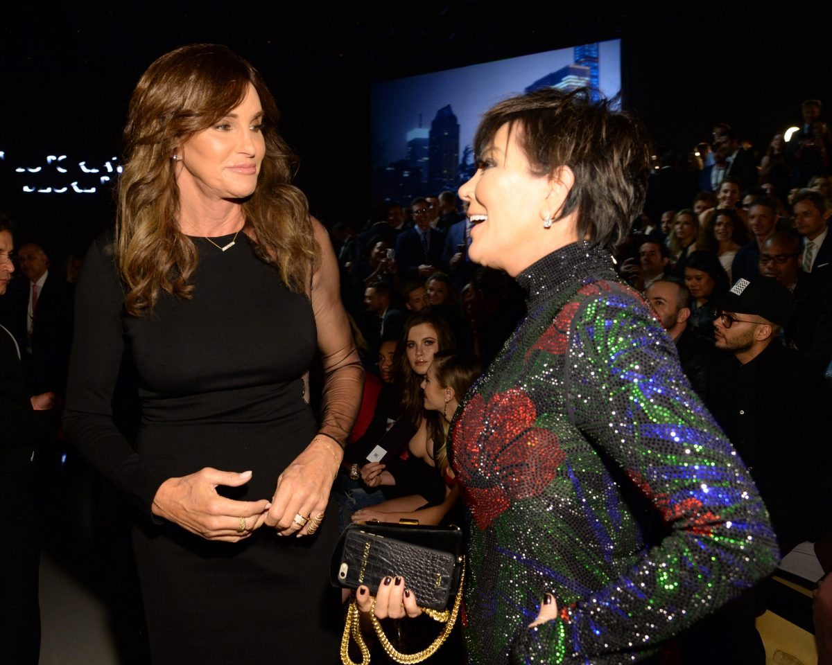 Caitlyn Jenner and Kris Jenner attend the 2015 Victoria's Secret Fashion Show at Lexington Armory on November 10, 2015 in New York City.