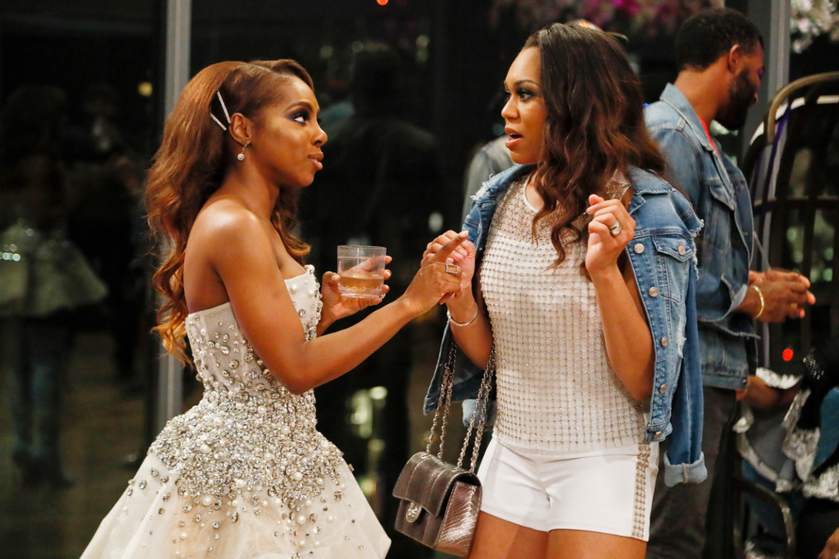 The Real Housewives of Potomac -- Pictured: (l-r) Candiace Dillard, Monique Samuels