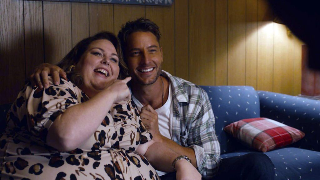Chrissy Metz as Kate and Justin Hartley as Kevin on 'This Is Us' Season 5 premiere in 2020