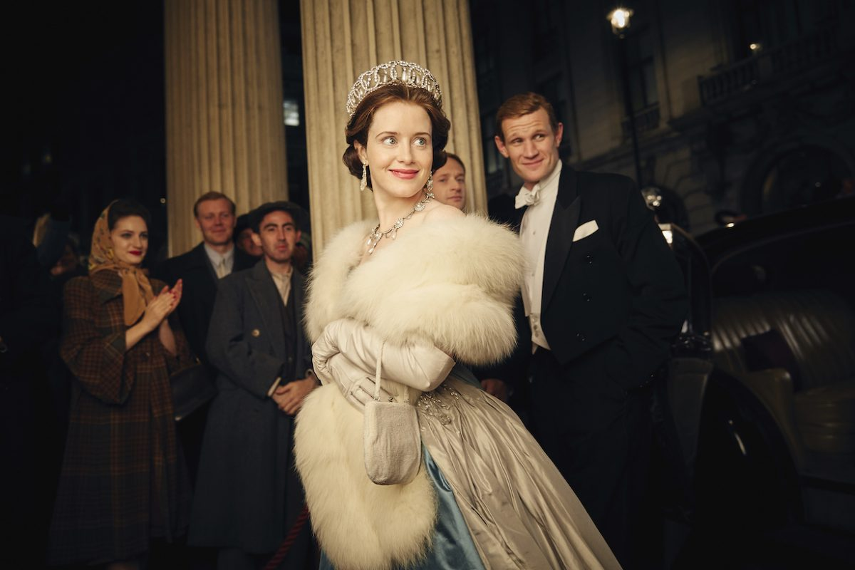 Claire Foy and Matt Smith in 'The Crown' Season 1