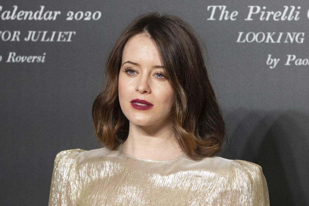 Claire Foy poses on the red carpet at the presentation of the Pirelli 2020 Calendar