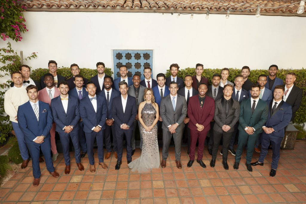 'The Bachelorette' lead Clare Crawley with her cast of men