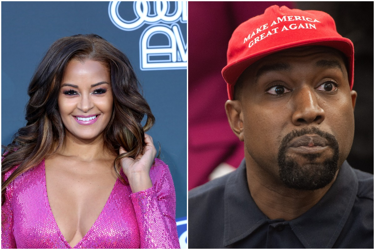 Claudia Jordan attends the 2019 Soul Train Awards at the Orleans Arena on November 17, 2019 in Las Vegas, Nevada./Rapper Kanye West speaks during his meeting with US President Donald Trump in the Oval Office of the White House in Washington, DC, on October 11, 2018.