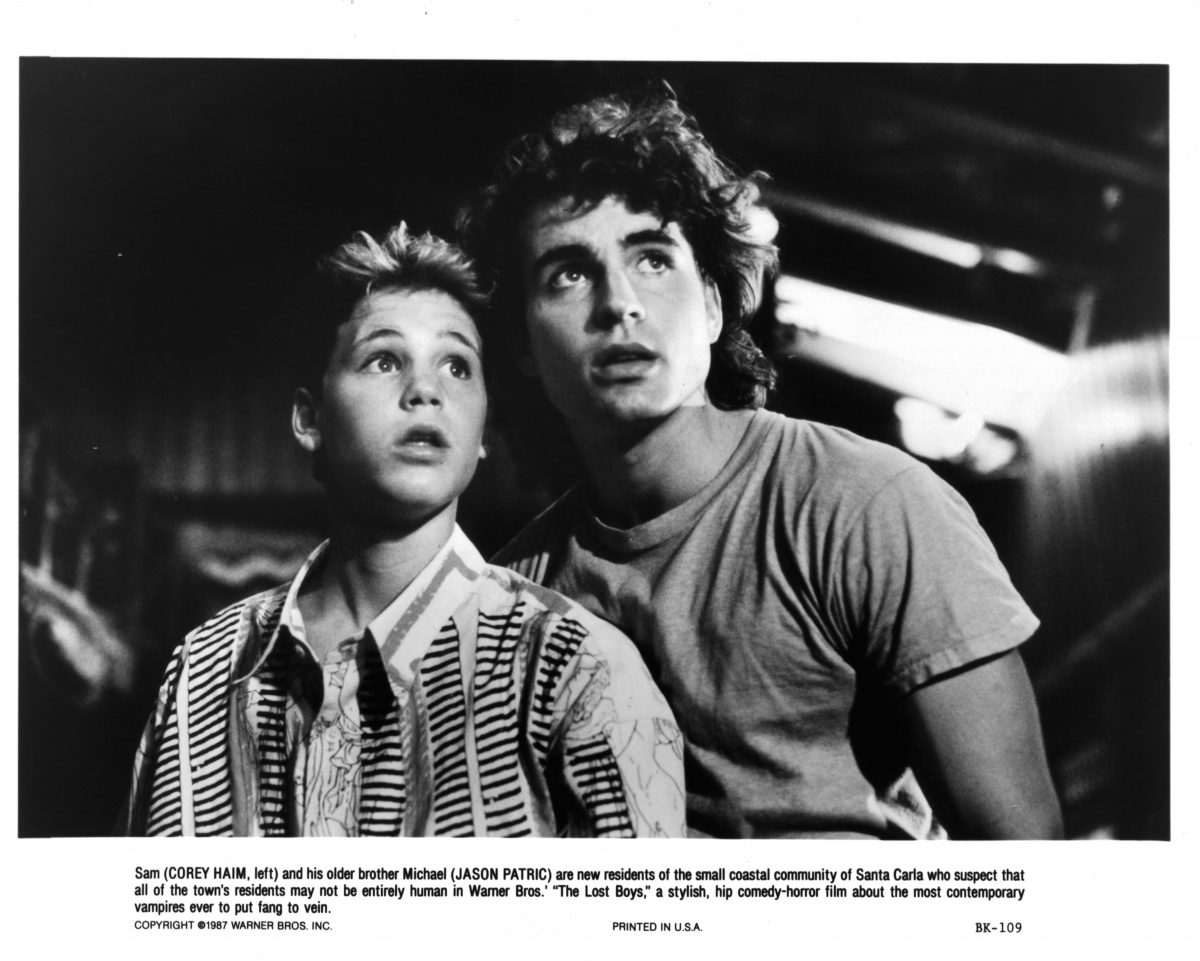 Corey Haim and Jason Patric in 'The Lost Boys'