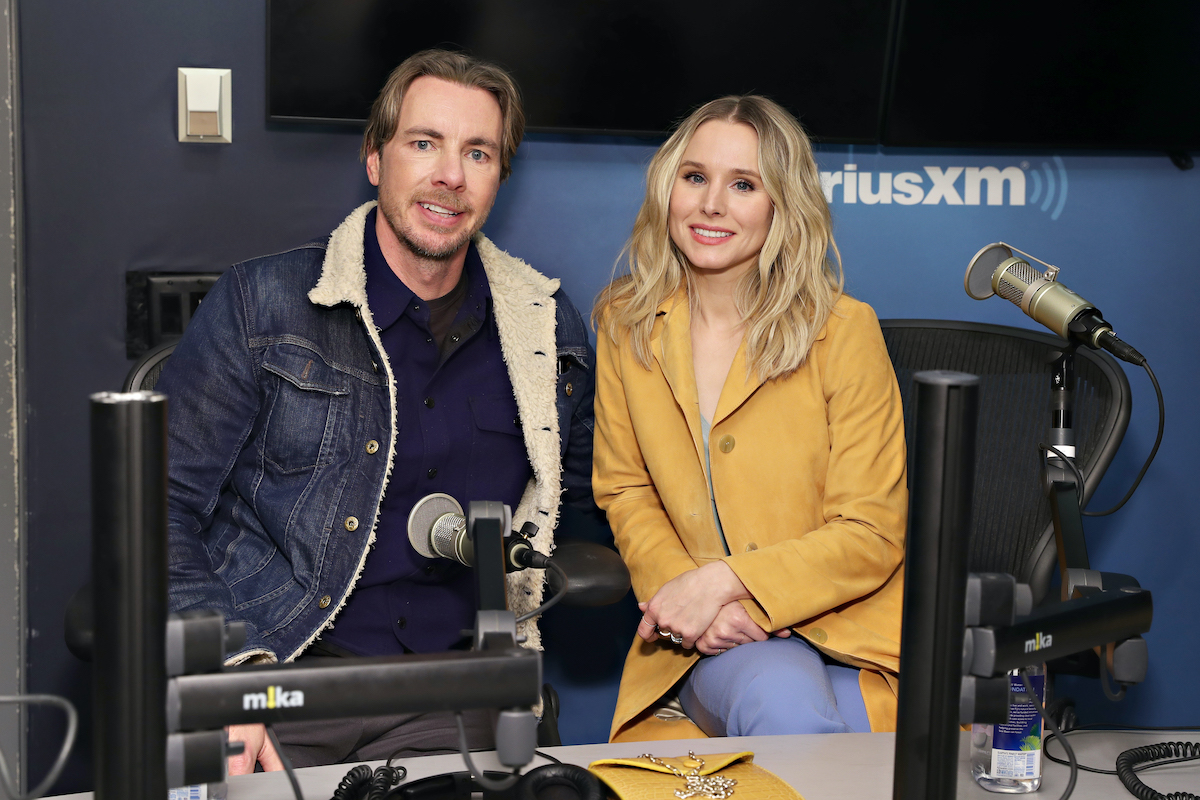 Dax Shepard and Kristen Bell at the SiriusXM Studios