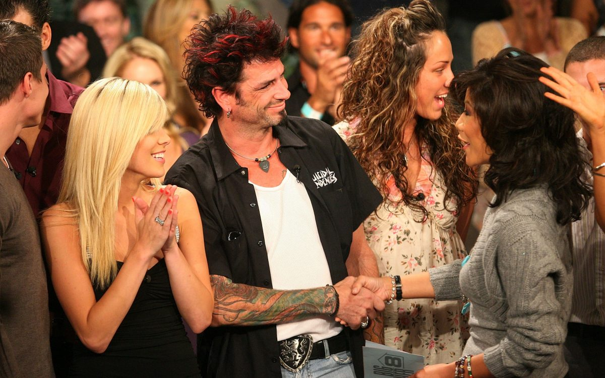 Runner up contestant Daniele Donato,  Dick Donato, winner of Big Brother 8, and host Julie Chen