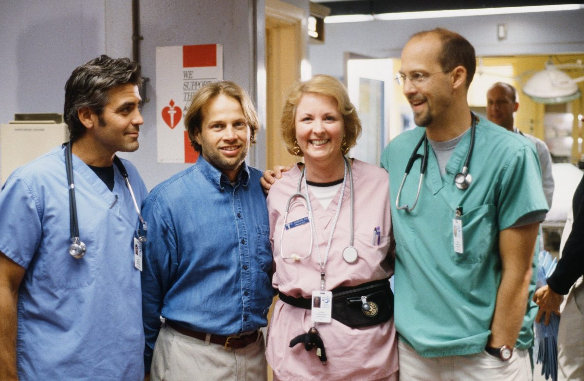 George Clooney as Doctor Doug Ross, James LeGros as Dr. Max Rosher