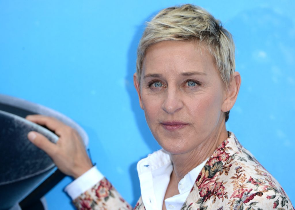 """Ellen DeGeneres attends the UK Premiere of """"Finding Dory"""" at Odeon Leicester Square on July 10, 2016 in London, England."""