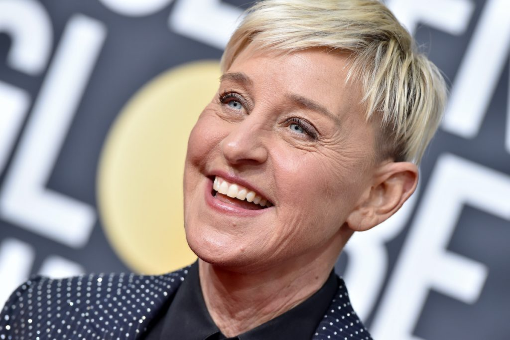 Ellen DeGeneres attends the 77th Annual Golden Globe Awards at The Beverly Hilton Hotel on January 05, 2020 in Beverly Hills, California.   Axelle/Bauer-