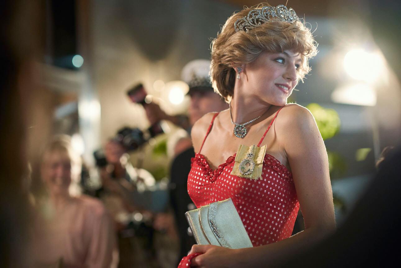 Emma Corrin as Princess Diana on 'The Crown' Season 4