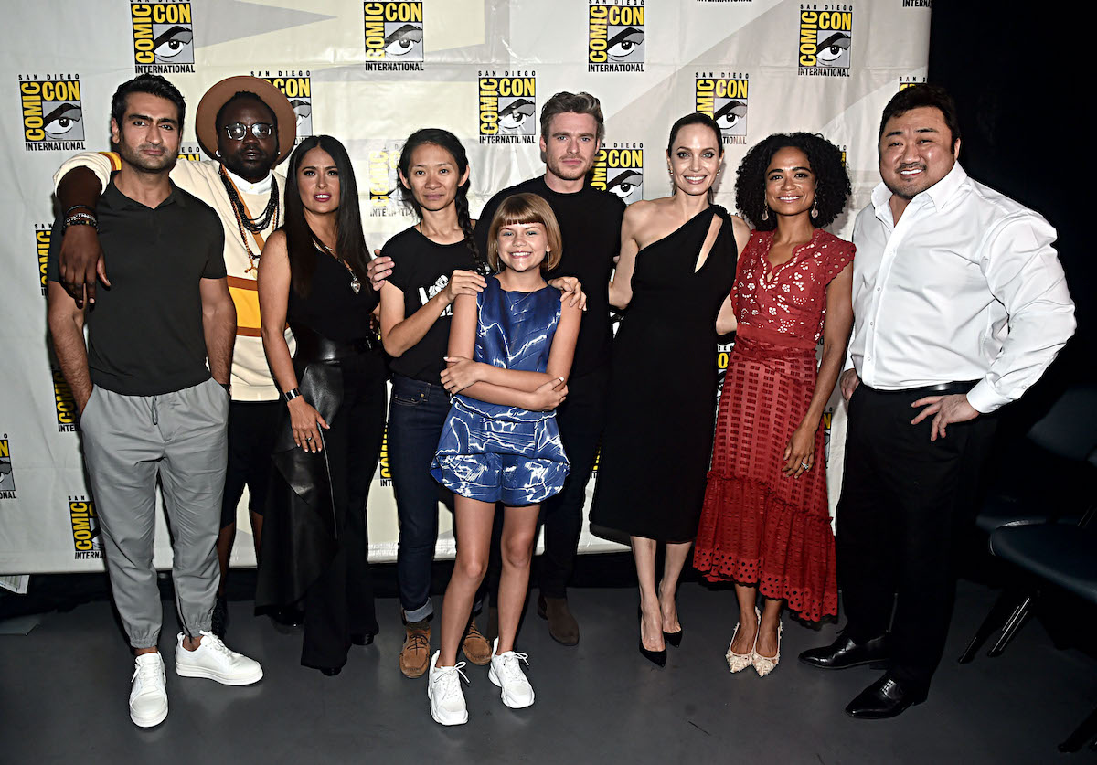 The cast of 'Eternals' and director Chloe Zhao at San Diego Comic-Con