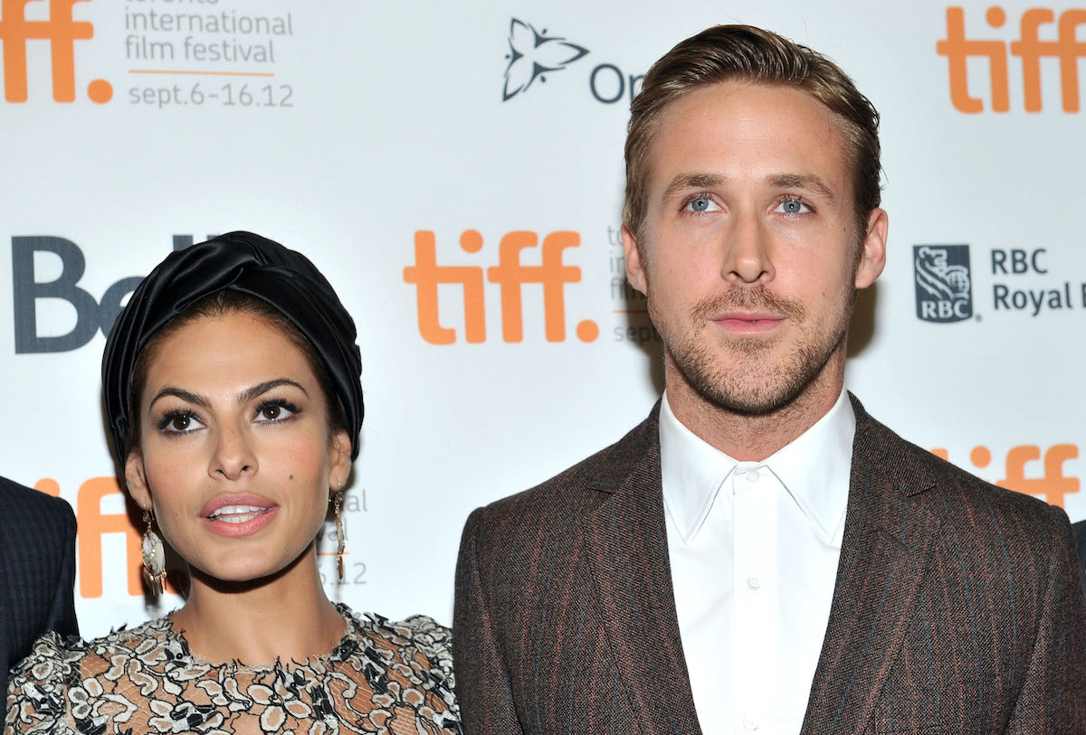 Eva Mendes and Ryan Gosling at 'The Place Beyond The Pines' premiere