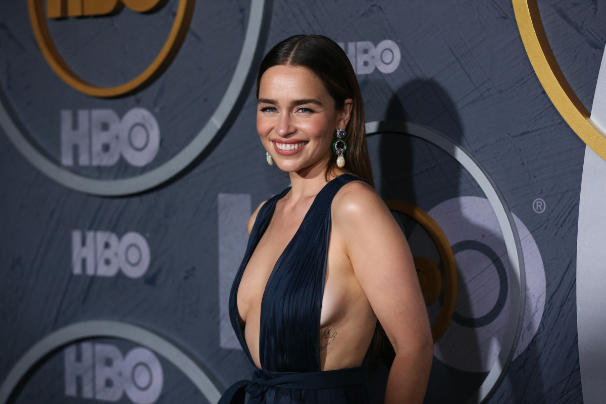 Emilia Clarke attends HBO's Post Emmy Awards Reception on September 22, 2019 in Los Angeles, California.