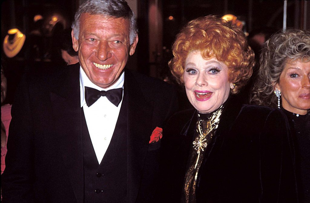 Lucille Ball with husband Gary Morton, left