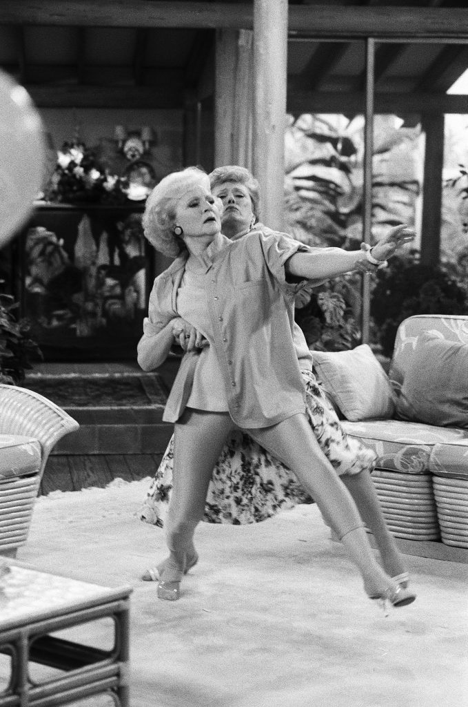 Betty White and Rue McClanahan in a scene from 'The Golden Girls'