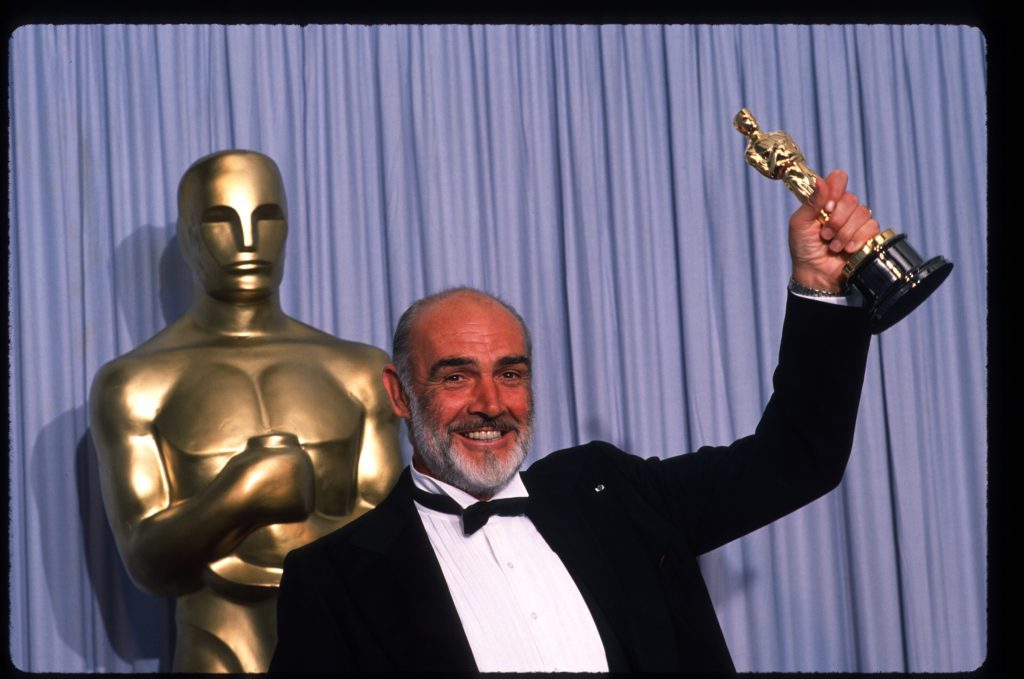 Sean Connery accepting his Academy Award for Best Supporting Actor in 1988