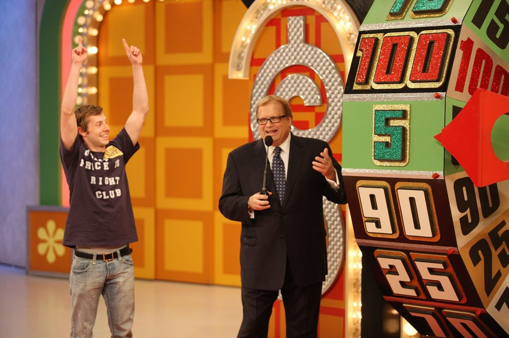Host Drew Carey on the set of 'The Price Is Right'