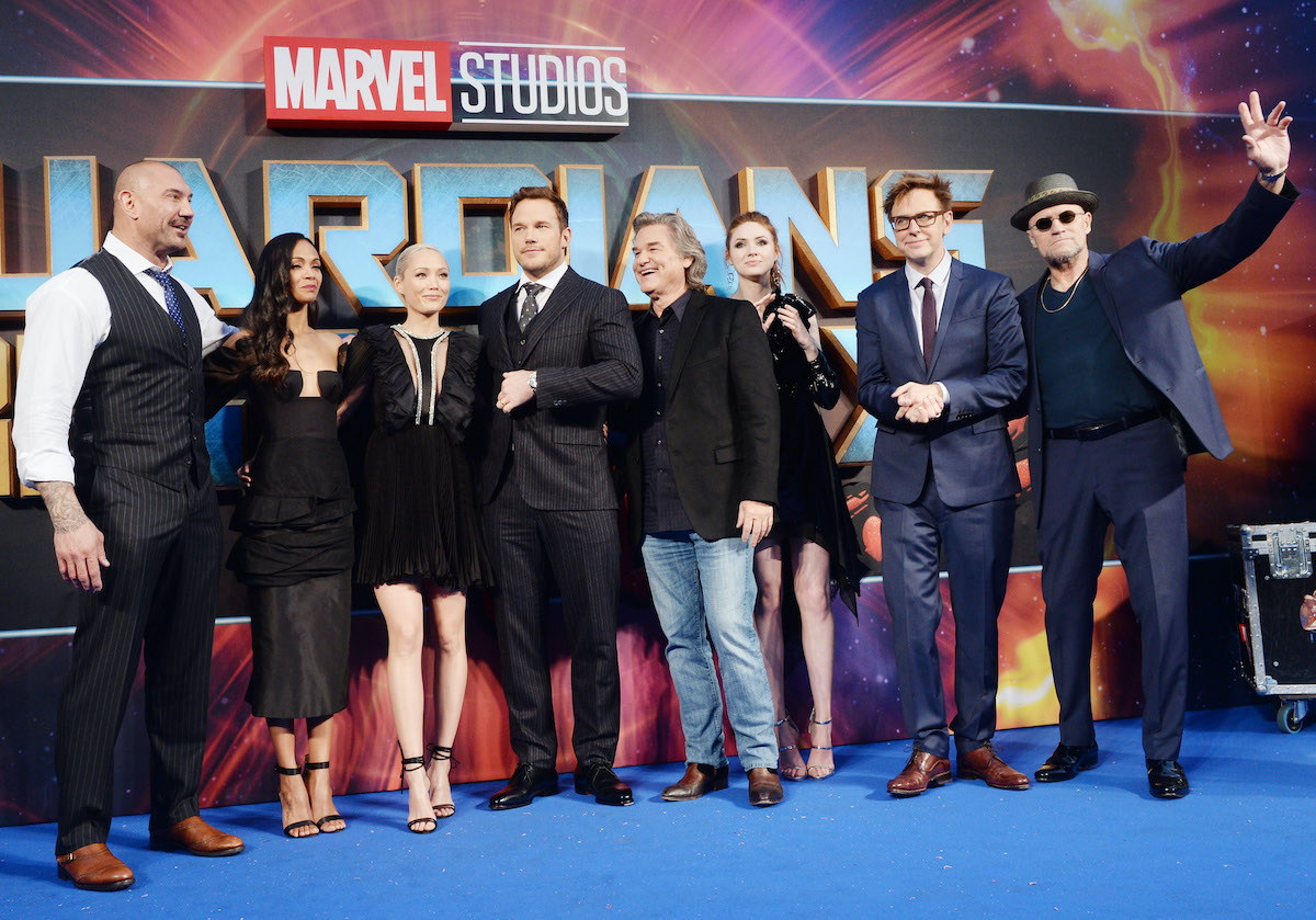 James Gunn and the cast of 'Guardians of the Galaxy Vol. 2'