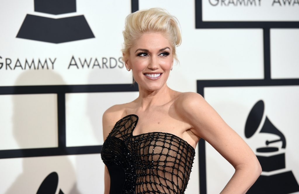 inger Gwen Stefani attends The 57th Annual GRAMMY Awards at the STAPLES Center on February 8, 2015 in Los Angeles, California