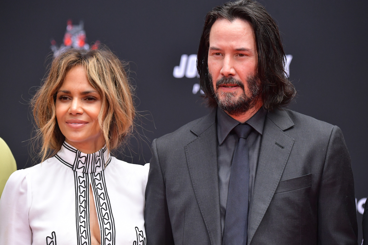 Halle Berry and Keanu Reeves at TCL Chinese Theatre IMAX