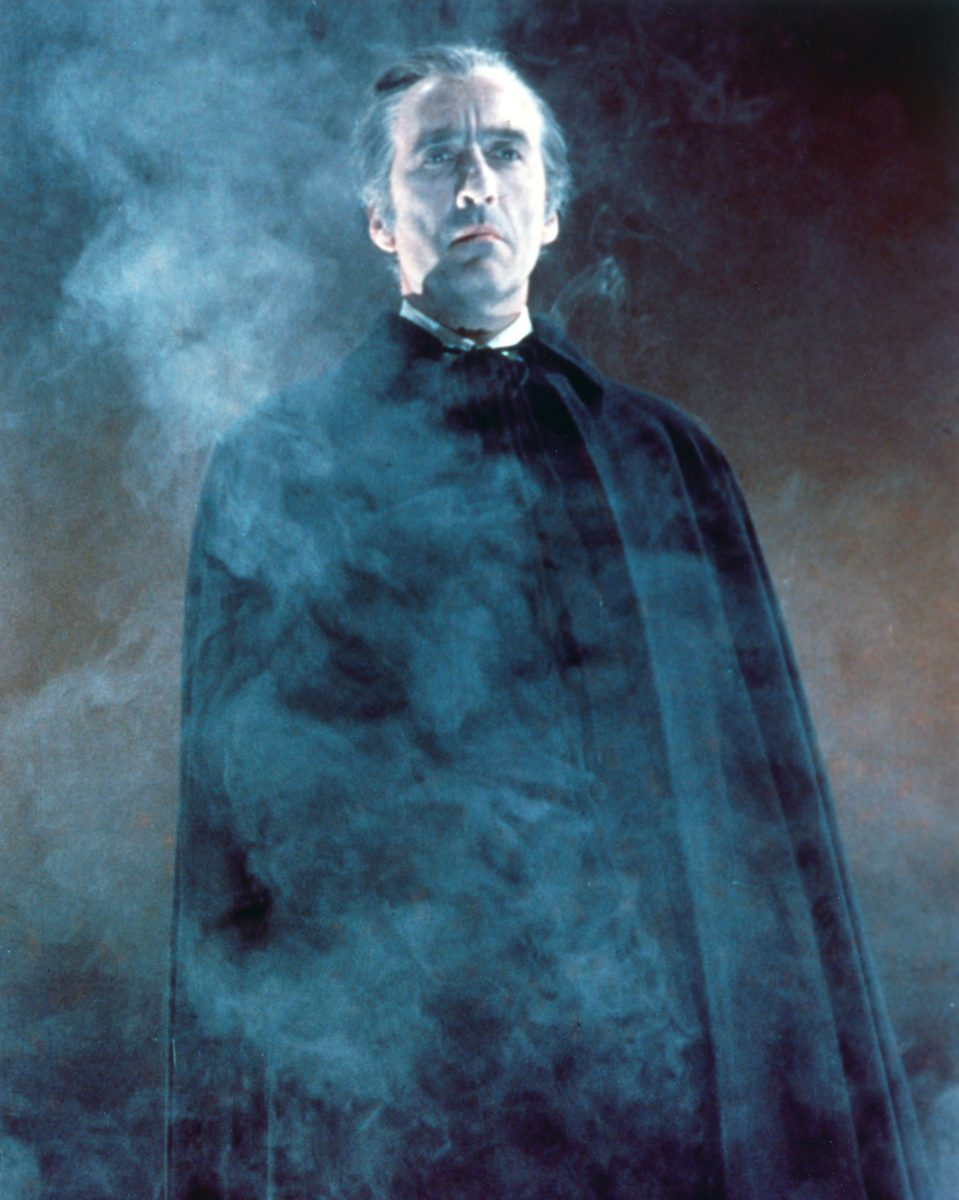 Halloween with Christopher Lee as Dracula