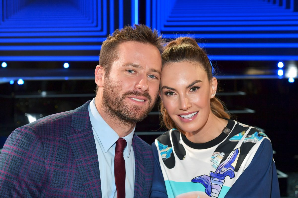Armie Hammer and Elizabeth Chambers pose during the 2019 Independent Spirit Awards