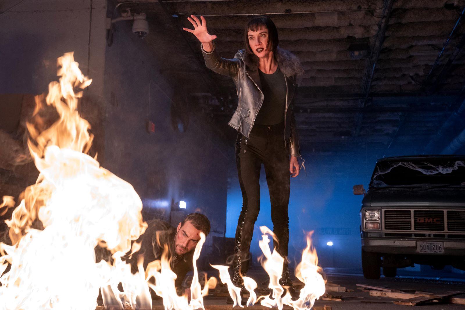 Tom Austen and Sydney Lemmon in 'Helstrom'