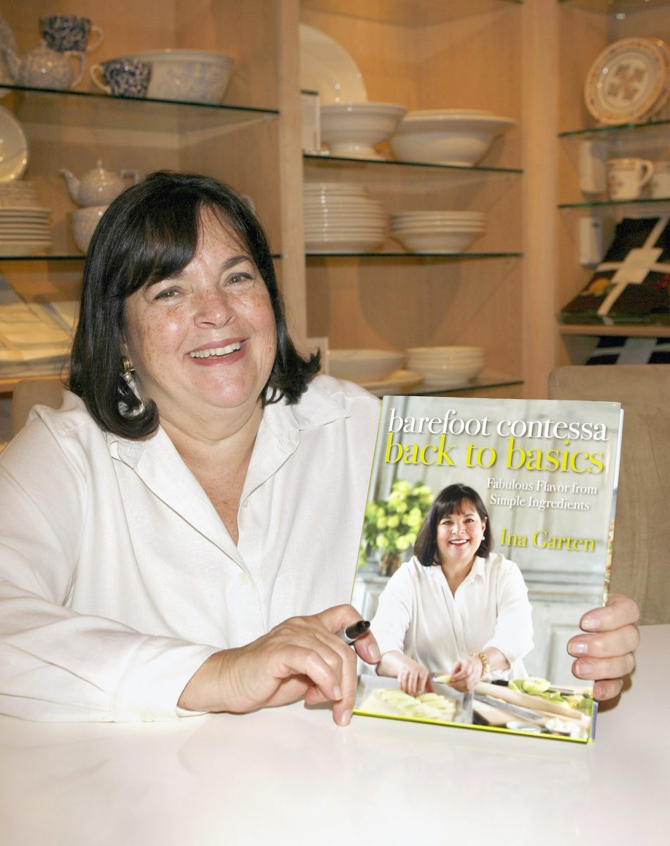 Ina Garten at a book signing at William Sonoma